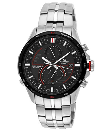Casio Edifice Men's Black Dial Stainless Steel Band Watch - EQS-A500DB-1AVDR