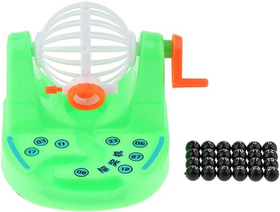 Baoblaze Jaula y Bolas de Bingo Clásico, Juego de Lotería de Máquina de Bingo, Juguete para Niños - Verde: Amazon.es: Juguetes y juegos