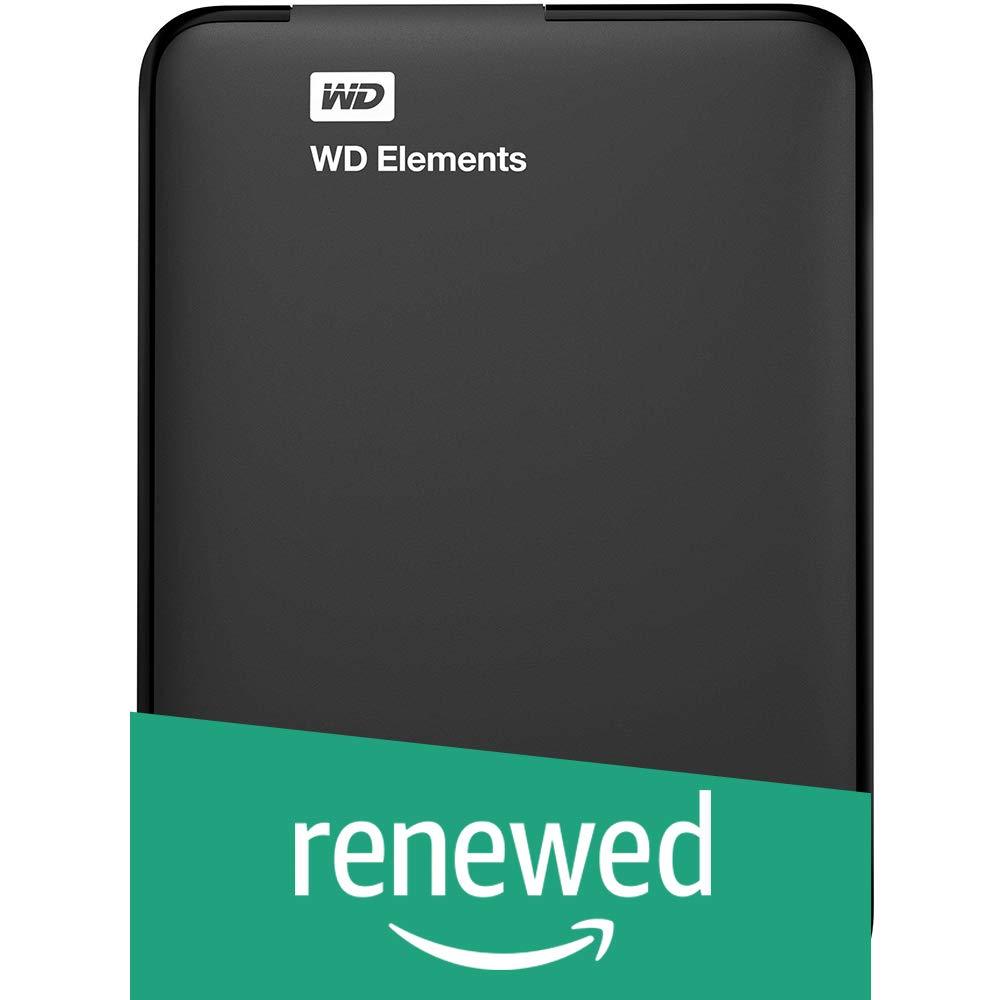 (Renewed) WD Elements 1.5 TB Portable External Hard Drive (Black)