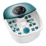 Foot Spa/Bath Massager with Heat, Bulbbles, and Vibration, Digital Temperature Control, 16 Masssage Rollers with Mini Acupressure Massage Points, Soothe and Relax Tired Feet