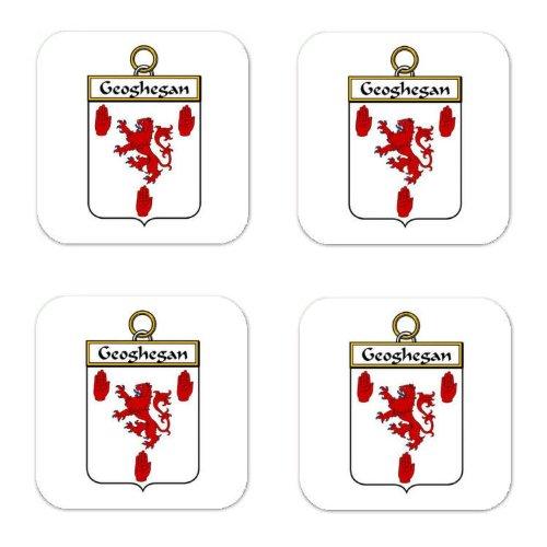 Geoghegan Coat (Geoghegan Or Mcgeoghegan Family Crest Square Coasters Coat of Arms Coasters - Set of 4)