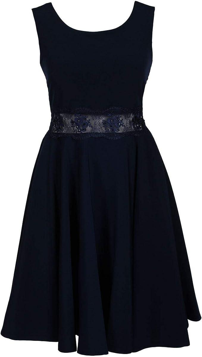 Gol G.O.L. - Festliches Kleid aus Krepp mit durchsichtiger Spitzen