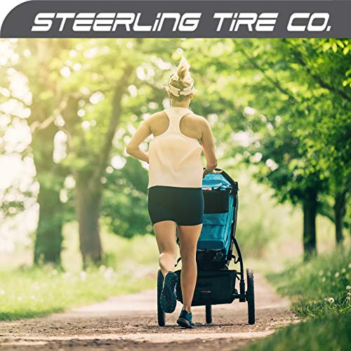 [3-Pack] Two 16'' x 1.5/1.75 Rear AND One 12.5'' x 1.75/2.15 Front Heavy Duty Thorn Resistant Inner Tire Tube For All BOB Revolution Strollers & Stroller Strides - The Smart BOB Stroller Tire Tube Set by Steerling Tire Co. (Image #6)