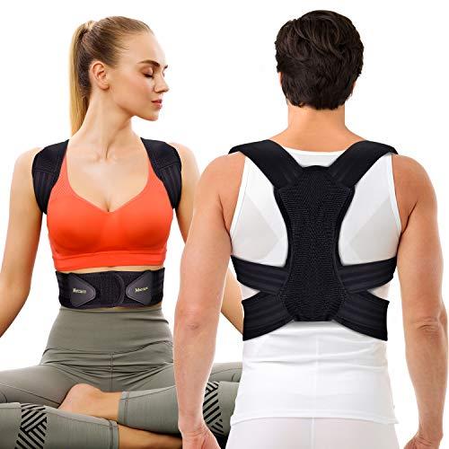 Posture Corrector for Men and Women,Comfortable Adjustable Support Back Brace Providing Pain Relief for Neck, Back, Shoulders,Posture Brace (23-32 Waist M)