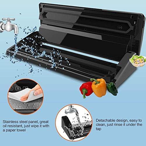 Vacuüm Afdichtingsmachine Voedsel Vacuüm Automatische Afdichtingsmachine, voor Versheid Behoud van Droog en Nat Voedsel, Zwarte Draagbare Vacuüm Sealer voor Kleding