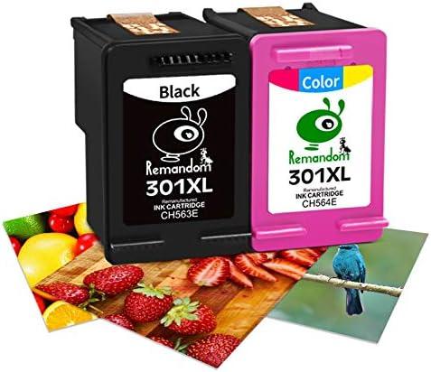 Remandom Remanufactured Ink Cartridge Replacement for HP 301 XL 301 Ink Cartridge Compatible for Envy 4500 5530 Deskjet 2540 1510 Officejet 2620 4630