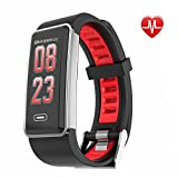Fitness Tracker, Heart Rate and ECG Fitness Watch Activity Tracker with Heart Rate Monitor Watch, IP68 Waterproof Sleep Monitor Step Counter 14 Sport Modes,Pedometer for Women Men Kids (Red)