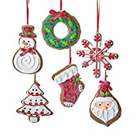 The Bridge Collection Claydough Gingerbread Ornaments, Set of 6 Assorted