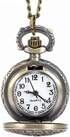 LYMFHCH Women's Spider-Web Carving Pattern Hollow Out Antique Delicate Pocket Watch