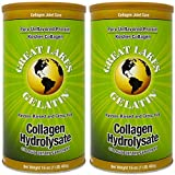 Great Lakes Gelatin, Collagen Hydrolysate, Beef, Kosher, 16 oz, 2-Pack