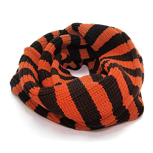 HappyTree Kids Hot Fashion Thick Knitted Winter Warm Infinity Scarf Halloween Orange Black for $<!--$12.99-->