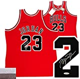 Michael Jordan Autographed/Signed Chicago Bulls Mitchell & Ness Vintage NBA Basketball Jersey - UDA