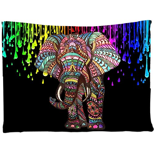 - Tapestry Elephant,Wall Hanging Tapestry Elephant Hippie Picnic Beach Sheet Dorm Decor Tapestry