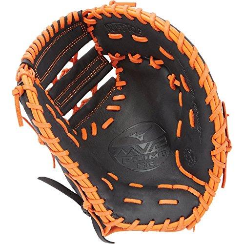 - Mizuno MVP Prime GXF50PSE6 First Base Baseball Mitts, Size 12.5, Black Orange