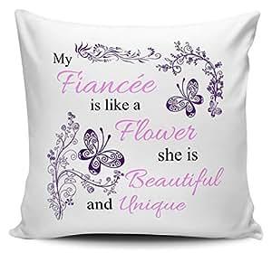Mi prometida (es como una flor–Funda para cojín