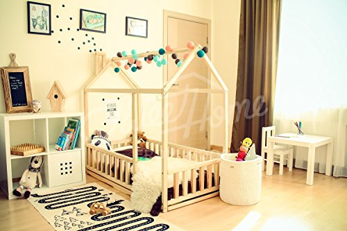 Frame bed TWIN, children bed, play tent, house bed, toddler bed floor bed baby room nursery crib home bed Pikler baby bed teepee fence SLATS