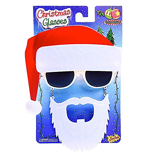 Costume Sunglasses Santa Sun-Staches Party Favors UV400 - http://coolthings.us