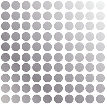 Innovative Stencils Polka Dot Wall Decal Nursery Kids Room Peel and Stick Removable Sticker Circle Pattern Decor #1326 3 50 Dots , Silver