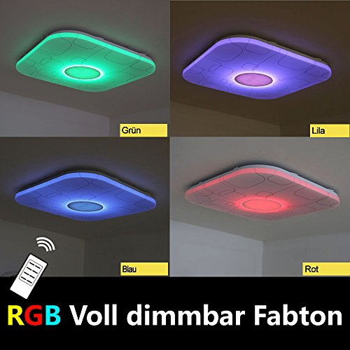Natsen ® LED Ceiling Light Modern YX809F RGB Fully Dimmable with ...