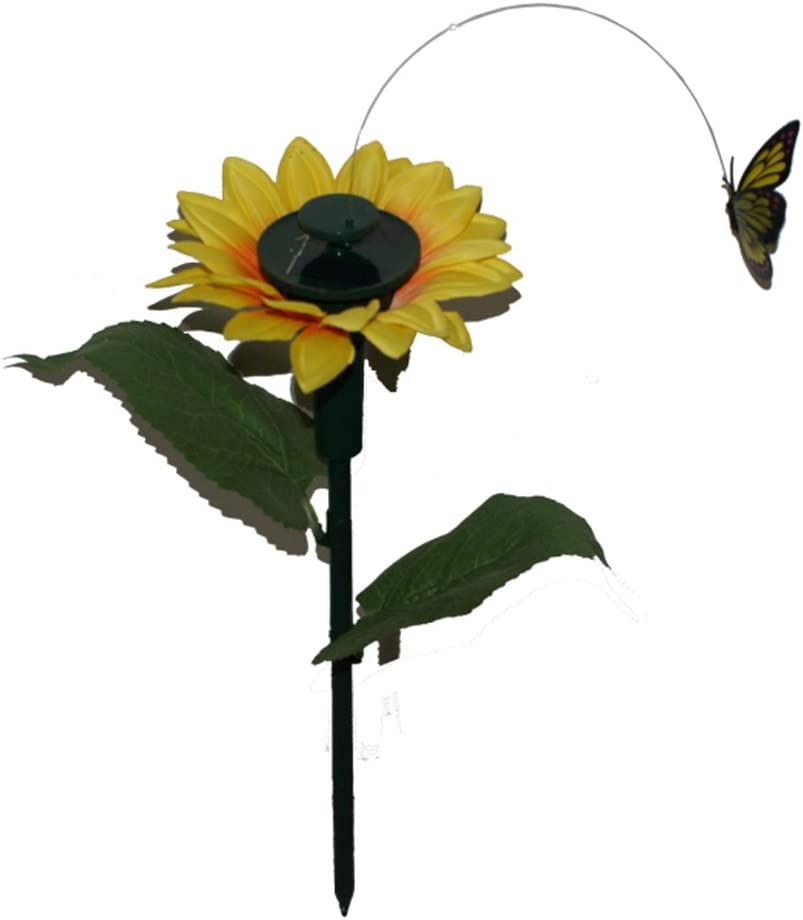 iLory Pack of 2 Solar and Battery Powered Flying Wobble Fluttering Butterfly for Patio Garden Yard Stake Plants Flowers Wedding Outdoor Decor Random Color