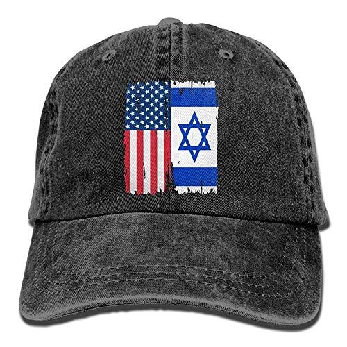 American Israel Flag Unisex Baseball Cap Cotton Denim Adjustable Outdoor Sports Cap for Men Women