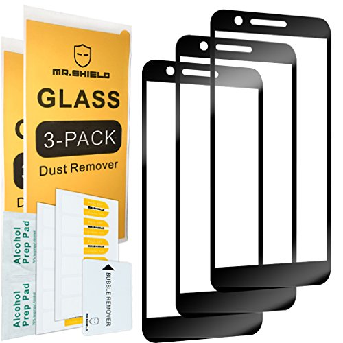 [3-PACK]-Mr Shield For LG Premier Pro LTE [Japan Tempered Glass] [9H  Hardness] [Full Cover] Screen Protector with Lifetime Replacement Warranty