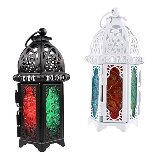 Tealight Chandelier - Jili Online 2 Pieces Moroccan Votive Tealight Candle Holder Candlestick Wedding Party Light