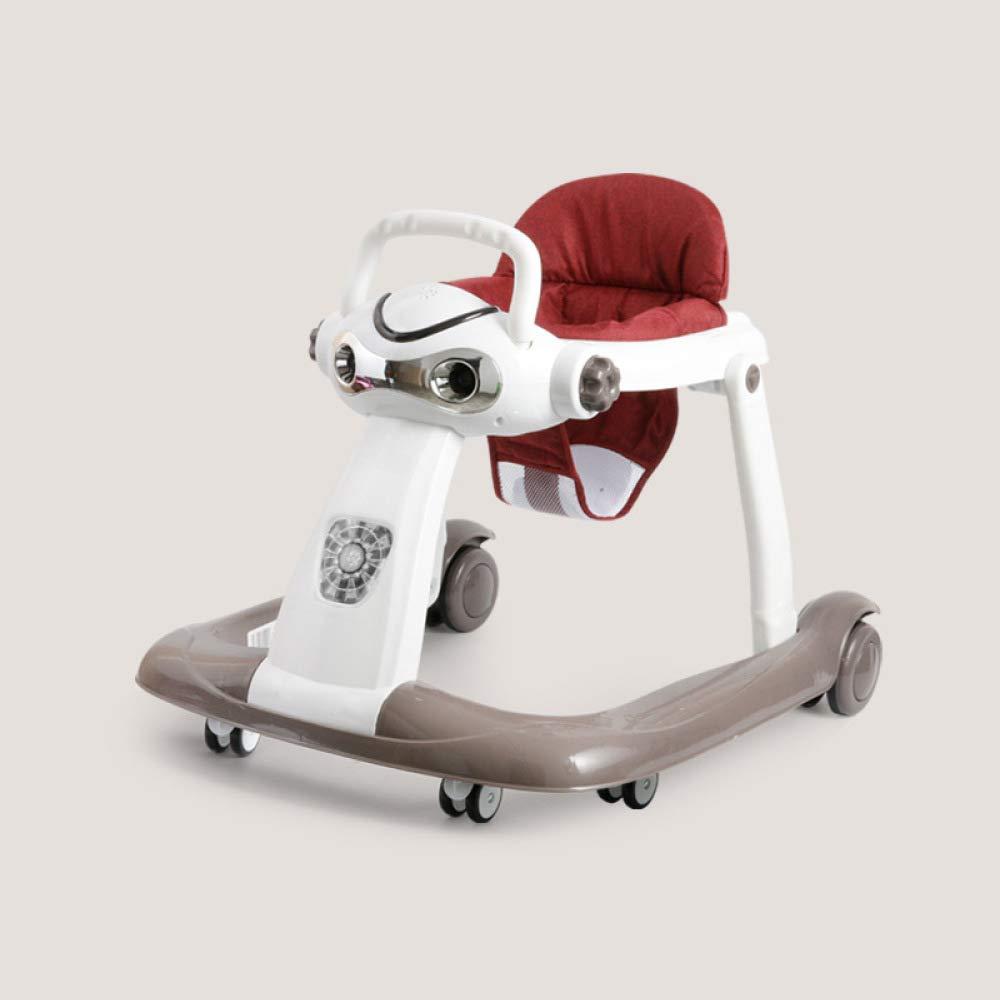 WU ZHI Andador para Bebés con Seis Ruedas Multifunción Antivuelco ...