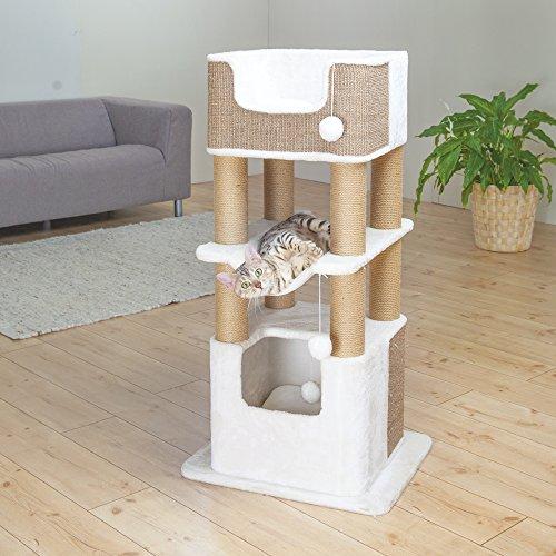 Trixie Poste Rascador Lucano, 110 cm, Blanco: Amazon.es: Productos para mascotas