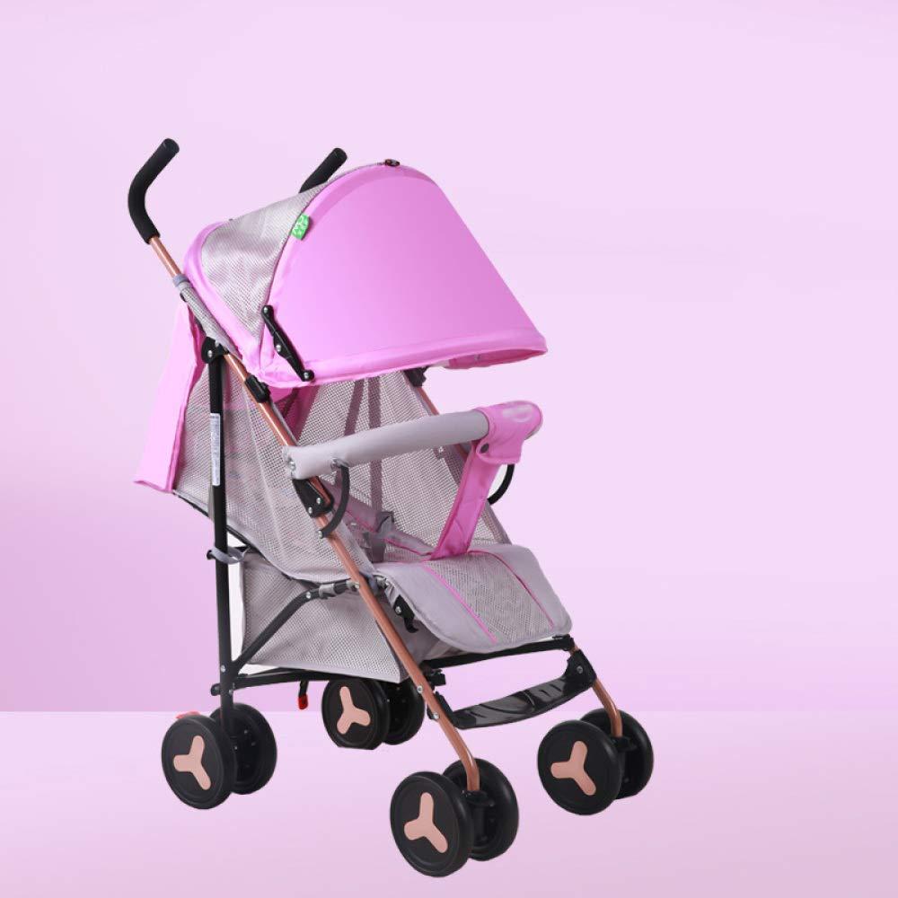 WCP CZZ Kinderwagen, Leichte Faltung Kann sitzen Einfach Einweg-Leichte Stoßdämpfer Kind Kinderwagen