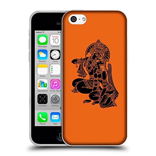 GoGoMobile Coque de Protection TPU Silicone Case pour // Q08140632 Hindou 5 sécurité Orange // Apple iPhone 5C