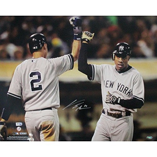 Curtis Granderson with Jeter Horizontal 16x20 Photo (MLB AUTH)