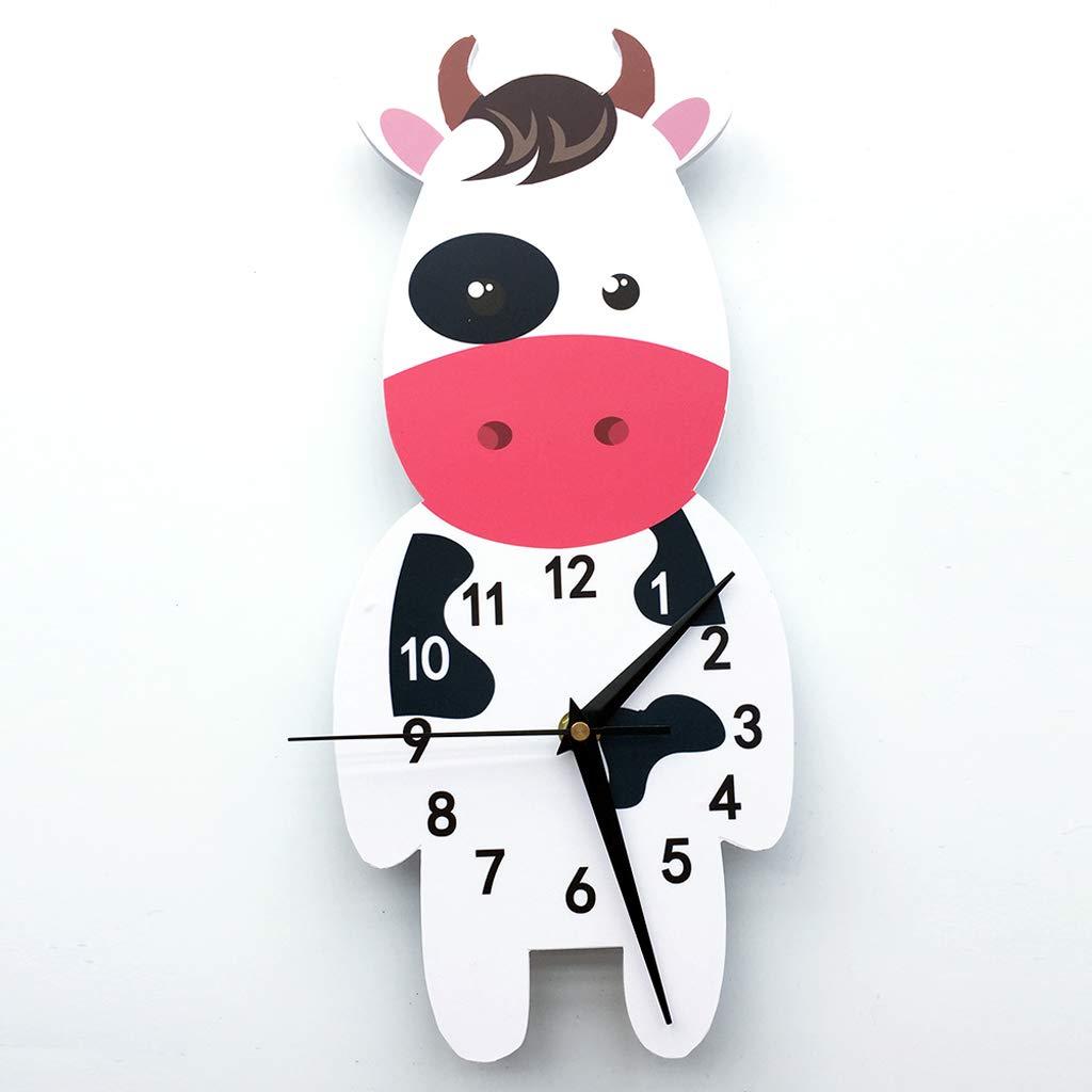 Reloj Pared 3D Colgante Tiempo Puntal Animal, Vaca