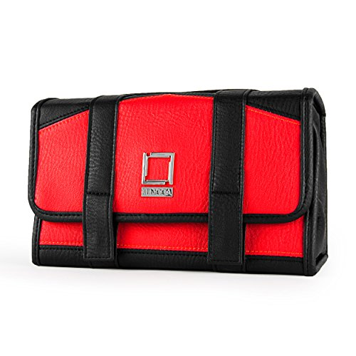 lencca-stowaway-eco-leather-compact-traveling-makeup-cosmetic-carry-bag-pack-red-black