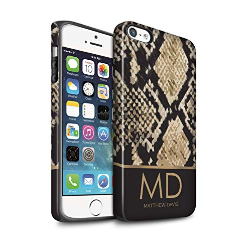 Personalized Custom Fashion Animal Print Pattern Matte Case for Apple iPhone 5/5S / Snake Skin Effect Design/Initial/Name/Text Shockproof DIY Cover (I Phone 5s Create Your Own Case)