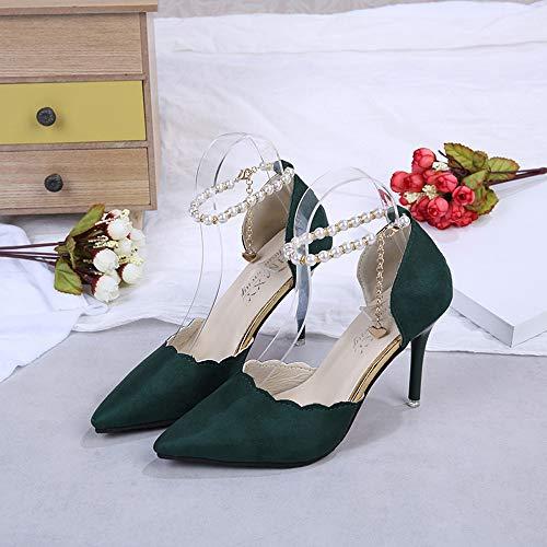 Mujer Sandalias para Comodos de Botas Impermeables Playa Zapatos Moda para Bohemia Planas Mujer Verde tacón Adulto Botas Alto POLP Verano Mujer Sandalias Zapatos Botas 8ISEzE