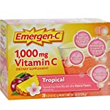 Emergen-C Vitamin C Drink Mix Packets Tropical 30 each ( Pack of 4)