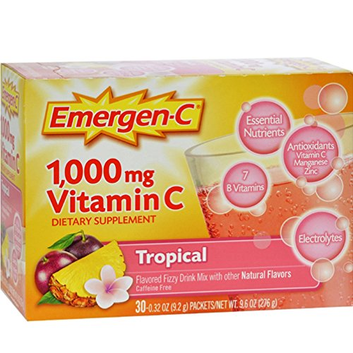 Emergen-C Vitamin C Drink Mix Packets Tropical 30 each ( Pack of 4) by Emergen-C