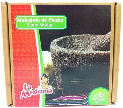Molcajete de Piedra Negra / Black Stone Mortar & Pestle Molcajete