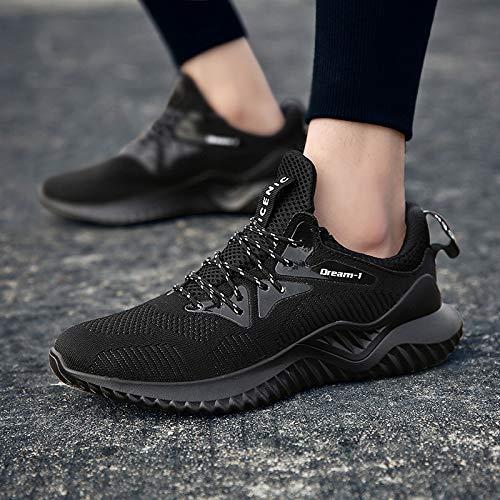 Hombre Bambas De Tenis Zapatos Deporte Sneakers Athletic Basket Correr Negro Respirable Trail Cordones Para Zapatillas Running fnx1wqf