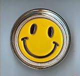 "2 1/4"" 4 Pc Metal Spice Herb Grinder Smiley Face"