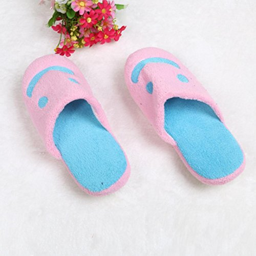 Cotton Plush Warm Home Elevin Indoor Anti Pink Slip Couple House Slippers 3 Men Shoes TM Soft Women xq0AB