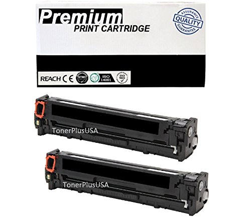 JSL 2PK CC530A Black Toner Cartridge Fits HP 304A Laserjet CP2025 CM2320 mfp Printer