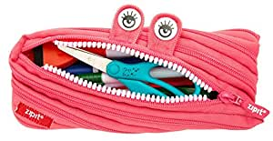 ZIPIT Monster Pencil Case, Bright Pink