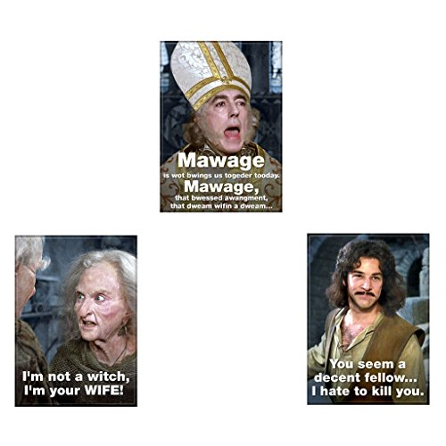 Bundle - 3 Items: The Princess Bride Refrigerator Magnets #02