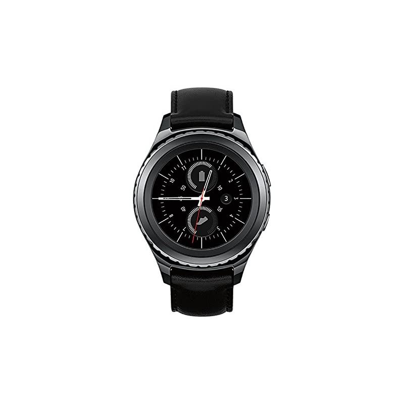 Samsung Gear S2 Classic 40mm Wi-Fi Stainless-Steel Smartwatch, Leather Strap - Black