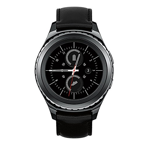Samsung Gear S2 SM-R735T Stainless Steel Leather Black Smartwatch for T-Mobile (Certified Refurbished)