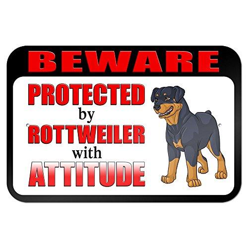 Beware Protected Rottweiler Attitude Metal