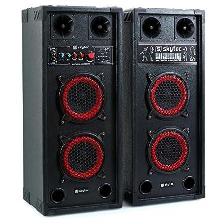 Skytec SPB-10 - Kit bafles karaoke, 26.5 x 33 x 53.7 cm, negro 178.440