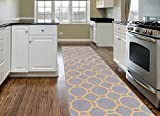 Kitchen Rugs Geometric Contemporary Geometric Non-Slip (Non-Skid) Area Rug Runner 2' X 7' (22